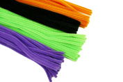 HALLOWEEN Set of 100 PLAIN Pipe Cleaners for Kids Crafts, Embellishing and Group Projects