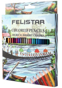 "Coloured Pencils for Adult/Kids Colouring Books, 48 Assorted Watercolour Pencils Set for Artists ""Vibrant"" With Brush & Sharpener"