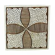 Brown Indian Wood Stamps Brown Floral Stamp Hand Craved Printing Block Textile Stamp