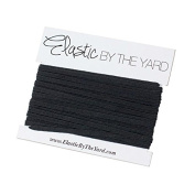 5 Yards of Black - 0.3cm Skinny Elastic - ElasticByTheYardTM