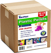 Poly Pellets Bulk for Weighted Blankets, Bean Bags Bulk Box (23kg) Non-Toxic, Premium Quality Made in the USA for Rock Tumbling, Stuffing & Filling Dolls, Crafts, Corn Hole Bags