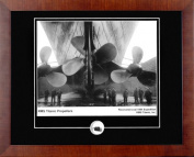 Century Collection Titanic Propellers Autographed Framed Photograph with Coal Relic
