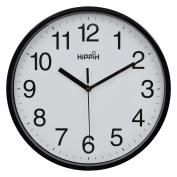 Hippih 25cm Silent Quartz Decorative Wall Clock Non-ticking Digital