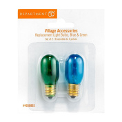 Department 56 Halloween Seasonal Decor Accessories for Village Collections, Replacement Bulbs, 2cm , Blue/Green