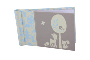 """Baby Photo Album 4 x 6 Brag Book """"Woodland Baby Boy"""" - Baby Shower Gifts, - Holds 24 Precious Photos, Acid-free Pages"""