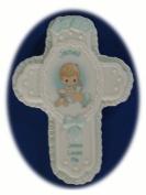 """Jesus Loves Me Personalised """"James"""" Porcelain Wall Cross"""