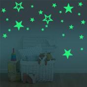 Marsway Creative Stars Night Glow Sticker Night Luminous Glow in the Dark Kids Room Wall Decal Stickers