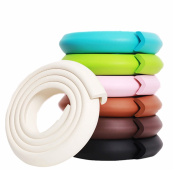 M2cbridge L Shape Extra Thick Furniture Table Edge Protectors Foam Baby Safety Bumper Guard 2m