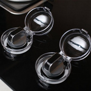 """Eudemon 6 Pack 1.57""""(4cm) H × 0.82""""(2.1cm) R Safety Children Kitchen Stove Gas Knob Covers & 12 Pack US Type Socket Plug Cover"""