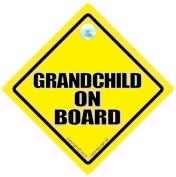 GRANDCHILDREN iwantthatsignltd Grandchild On Board, Car Sign, GrandBaby Sign, Grandchildren On Board