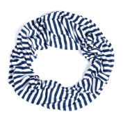 Nursing Scarf For Breastfeeding By Consider It Maid - Cotton & Polyester Blend, Soft, Lightweight & Breathable Material - Maximum Privacy - Modern, . Design - Navy/White