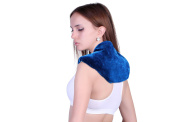 Neck + Shoulder Wrap - Hot & Cold Therapy - Natural Clay Beads - provides moist heat or soothing cool stress and pain relief