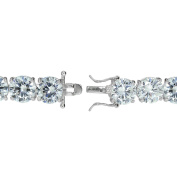 Sterling Silver Round Cubic Zirconia Classic Tennis Bracelet