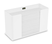 TrippNT 52913 Counter Top White Acrylic Fold/Multifold Paper Towel Dispenser, 11 1/4 x 17cm x 12cm WHD