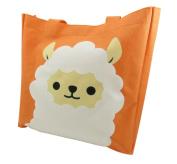Cute Alpaca Tote Bag Purse 27cm x 27cm Canvas Polyester Orange