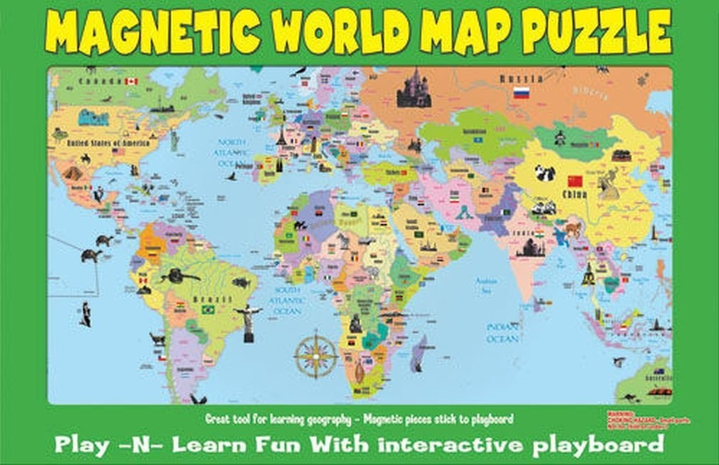 Magnetic world map toys buy online from fishpond gumiabroncs Choice Image