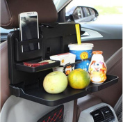 i-BOSOM Black Car Food Tray Folding Dining Table Drink Holder Car Pallet for Back Seat Water Car Cup Holder