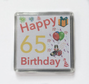 Happy 65th Birthday Gift - Lucky Sixpence Keepsake