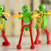 Novelty Clockwork Toy (6 pack) Wind-up Toy Clockwork Spring toy Funny Dancing Robot For Children Kids baby Toy Xmas Gift Christmas Present