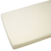 Fitted Sheet Compatible With Chicco Next 2 Me 100% Cotton - Cream-By For-Your-Little-One