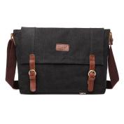 Outreo Vintage Shoulder Bag for School Bookbag Men Messenger Bag Canvas Crossbody Cross Body Bag Retro Satchel Book Bags Travel Sport Weekender Laptop Side Pack
