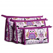 Lolittas 3pcs Cosmetic Toiletry Travel Bag Set