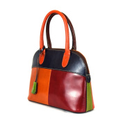 Made In Italy Leather Handbag For Woman With Padlock Colour Multicolor Tuscan Leather - Prestige Line