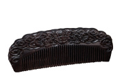 Icegrey Handmade Black Sandalwood Wooden Comb Hair Brush Anti-loss