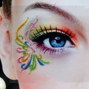 3Pairs(6PCS) Different Models Colourful Temporary Transfer Eyeshadow Eyeliner Canthus Stickers With Self-Adhesive for Show And Halloween Party
