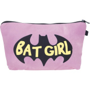 Batgirl Pink Make Up Bag Cover Case Cosmetics School Pencil Case Hipster Design Instagram Emoji