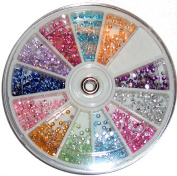 Rhinestone Wheel 1200 rhinestones 3 mm, Multi-Colour + + Top Quality + + +