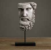 Home-organiser Tech Art Half Face the Wise Beard Gift and Furnishing Article Statue Abstract Sculpture