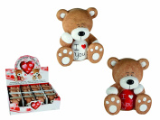 Men Women Man Woman Ladies Lady Gents Him Her - Number One Be Romantic - I Love You Teddy Bear Ornament Figurine - Perfect for Secret Santa Stocking Fillers Xmas Christmas Birthday Easter Valentines Anniversary Gift Present Idea - One Supplied