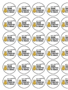 "30x Children in Need (2) 1.5"" (3.8cm) PRE-CUT PREMIUM RICE PAPER Edible Cake Toppers"