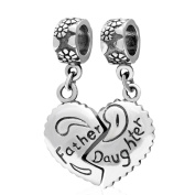 Father Mother and Daughter Son 925 Sterling Silver Charms Pendant for Bracelets Necklace Dad Mum Children Mother's Gifts Jewellery