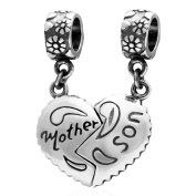 Father Mother and Daughter Son 925 Sterling Silver Charms Pendant for Bracelets Dad Mum Children Christmas Gifts Jewellery