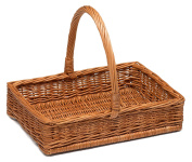 Prestige wicker Display Basket with handle Small, Natural