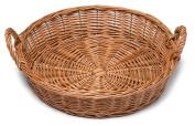 Prestige wicker Round Display Basket 34cm, Natural
