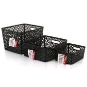 Marko Homewares Storage Basket Plastic Crate School Office Kitchen Pharmacy Tidy Organiser Handy