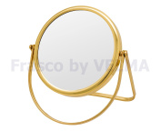 Frasco by VELMA - M-RS160-5x - Hand-Crafted Double-Sided Travel, Hand, Standing Makeup Mirror / Cosmetic Mirror / Magnifying Mirror / Men's Shaving Mirror with 5x Magnification + Regular Size, Distortion-free, High-Quality German Trademark Glass - Mirr ..
