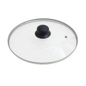 Oryx 5023425 - Glass Lid for Frying Pan, 26 cm, Edge Stainless Steel, Transparent