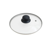 Oryx 5023410 - Glass Lid for Frying Pan, 20 cm, Edge Stainless Steel, Transparent