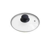 Oryx 5023405 - Glass Lid for Frying Pan, 18 cm, Edge Stainless Steel, Transparent
