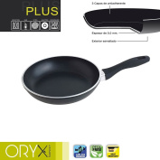 Oryx 5023310 Frying Pan Aluminium Non-stick Plus 22 cm/5 mm, Black, 39 x 23 x 7 cm