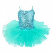 iEFiEL Girls Kids Sequined Camisole Gymnastic Leotard Ballet Tutu Dress Dancewear Costumes