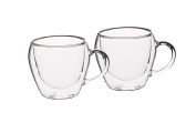 KitchenCraft Le'Xpress Insulated Double-Walled Tea Cups, 230 ml