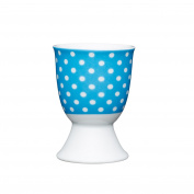 Kitchen Craft - Porcelain Egg Cup - Polkadot Blue