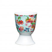 Kitchen Craft - Porcelain Egg Cup - Floral Tropics