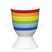 Kitchen Craft - Porcelain Egg Cup - Bright Stripes