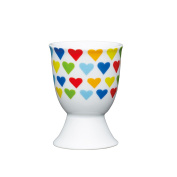 Kitchen Craft - Porcelain Egg Cup - Bright Hearts